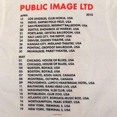 画像3: PiL (Public Image Ltd) Spring 2010 Tour Tシャツ