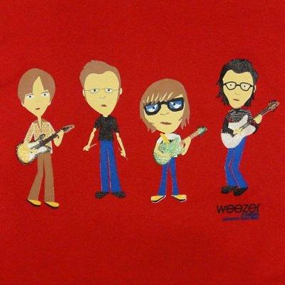 画像1: Weezer ウィーザー Band Cartoon Sleeveless Tシャツ (GMサイズ)<セール特価商品>
