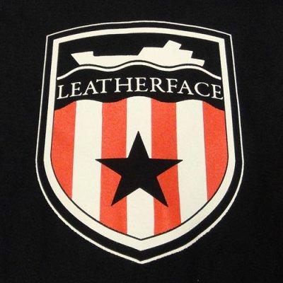 画像1: Leatherface レザーフェイス Shield Logo Tシャツ (Girl's Mサイズ)<セール特価商品>