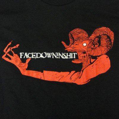 画像1: Facedowninshit フェイスダウンインシット - Goatman Tシャツ (Sサイズ)<セール特価商品>