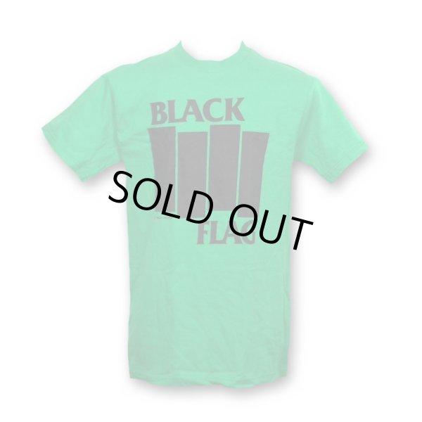 画像1: Black Flag バンドTシャツ ブラック・フラッグ Bars & Logo KELLY GREEN (1)