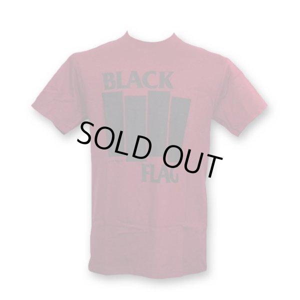 画像1: Black Flag バンドTシャツ ブラック・フラッグ Bars & Logo BURGUNDY (1)
