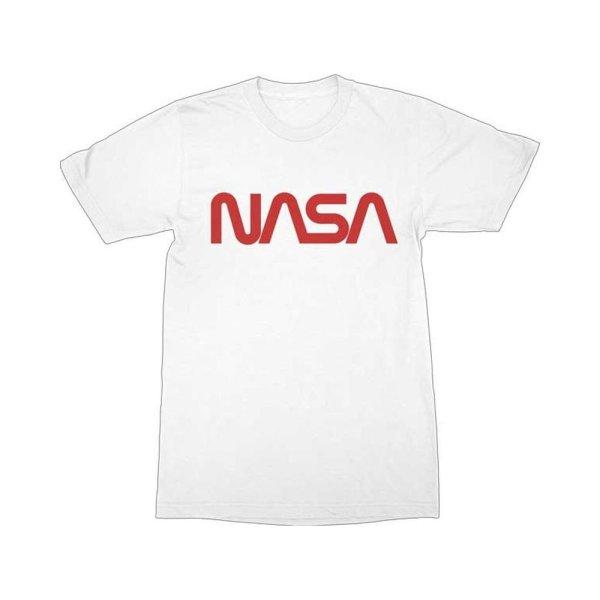 画像1: NASA Tシャツ ナサ Worm Red Logo (1)