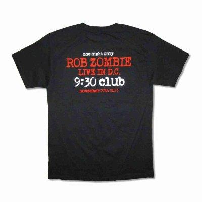 画像1: Rob Zombie バンドTシャツ ロブ・ゾンビ 9:30 Club