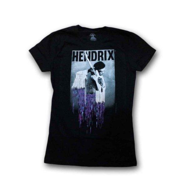 画像1: Jimi Hendrix レディースTシャツ ジミ・ヘンドリックス Pixel Drip (1)