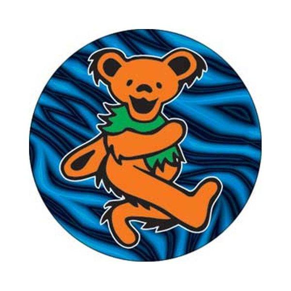 画像1: Grateful Dead 缶バッジ グレイトフル・デッド Orange Bear 1.25 Inch Button (1)