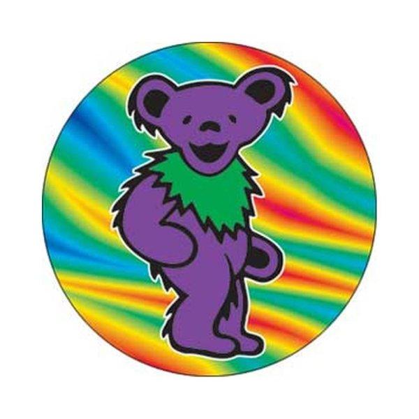 画像1: Grateful Dead 缶バッジ グレイトフル・デッド Purple Bear 1.25 Inch Button (1)