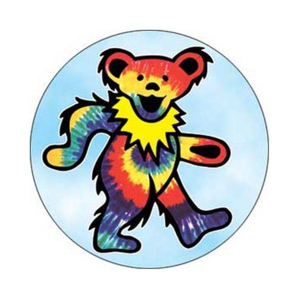 画像1: Grateful Dead 缶バッジ グレイトフル・デッド Tye Dye Bear 1.25 Inch Button (1)