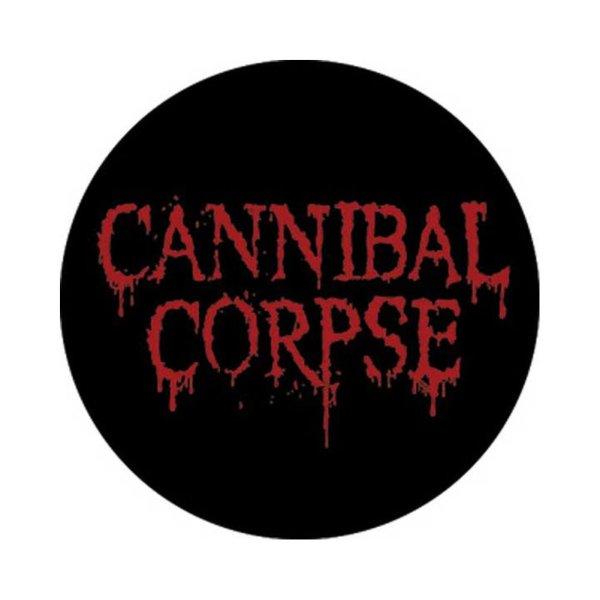 画像1: Cannibal Corpse 缶バッジ カンニバル・コープス Logo 1.5 Inch Button (1)