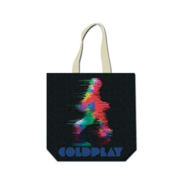 画像1: Coldplay トートバッグ コールドプレイ Fuzzy Man BLACK & NATURAL (1)