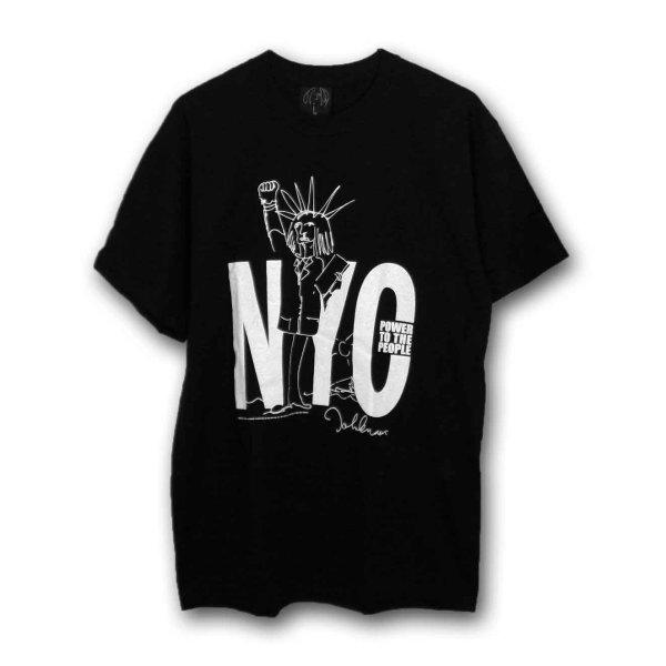 画像1: John Lennon Tシャツ ジョン・レノン NYC BLACK (1)