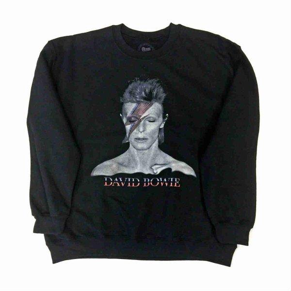 画像1: David Bowie スウェットシャツ デヴィッド・ボウイ Aladdin Sane (1)
