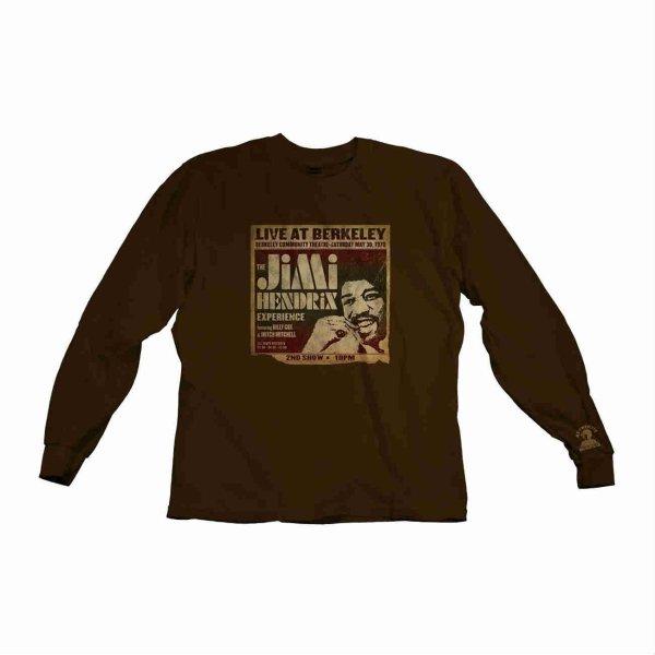 画像1: Jimi Hendrix ロングスリーヴサーマルシャツ ジミ・ヘンドリックス Live At Berkley (1)