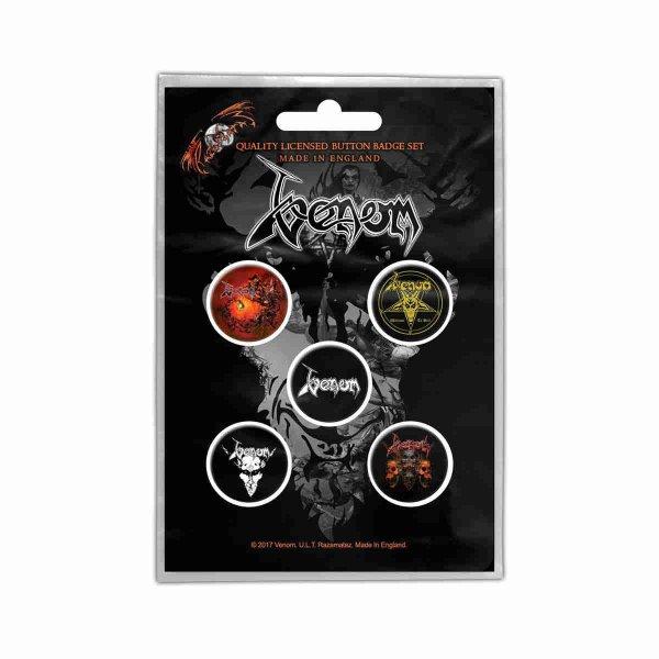画像1: Venom バッジ5個セット ヴェノム Black Metal (1)