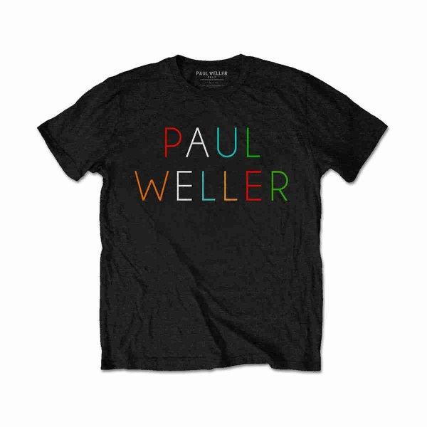 画像1: Paul Weller Tシャツ ポール・ウェラー Multicolor Logo (1)