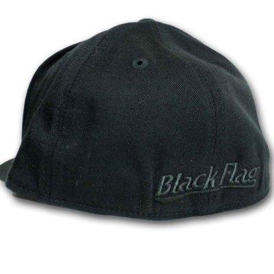 画像1: Black Flag フレックスフィットキャップ ブラック・フラッグ Outlined Bars