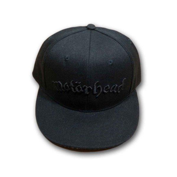 画像1: Motorhead スナップバックキャップ モーターヘッド Black Logo (1)