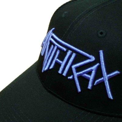 画像1: Anthrax アジャスタブルキャップ アンスラックス Purple Logo