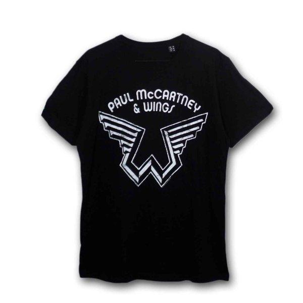 画像1: Paul McCartney Tシャツ ポール・マッカートニー Wings Logo BLACK (1)