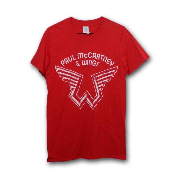 画像1: Paul McCartney Tシャツ ポール・マッカートニー Wings Logo RED (1)