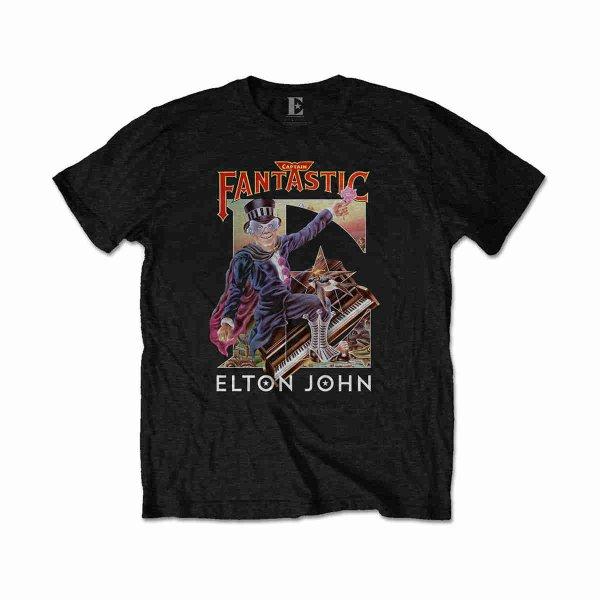 画像1: Elton John Tシャツ エルトン・ジョン Captain Fantastic (1)