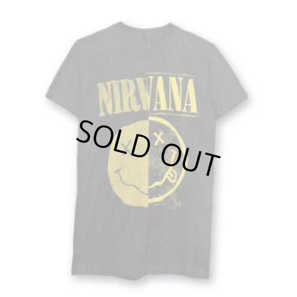 画像1: Nirvana バンドTシャツ ニルヴァーナ Split Smile (1)