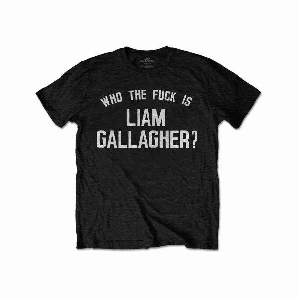 画像1: Liam Gallagher Tシャツ リアム・ギャラガー Who The BLACK (1)