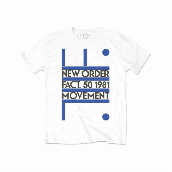 画像1: New Order バンドTシャツ ニュー・オーダー Movement WHITE (1)