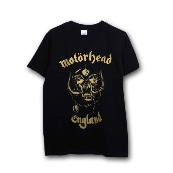 画像1: Motorhead バンドTシャツ モーターヘッド England Classic Gold (1)