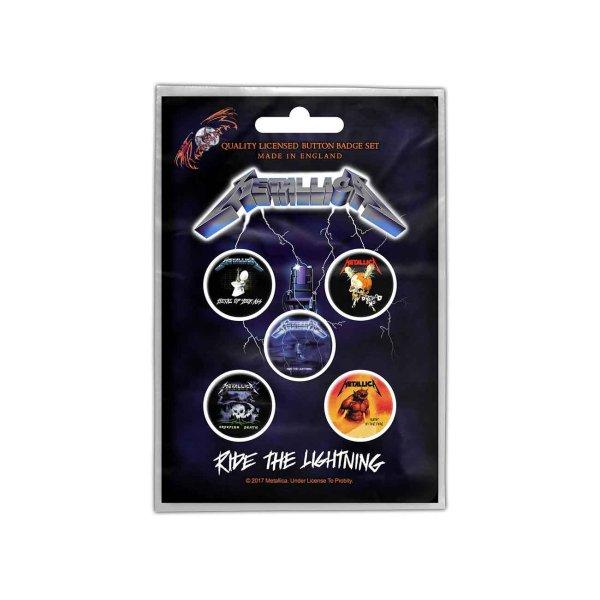 画像1: Metallica バッジ5個セット メタリカ Ride The Lightning (1)