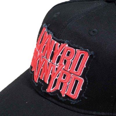 画像1: Lynyrd Skynyrd スナップバックキャップ レイナード・スキナード Logo BLACK