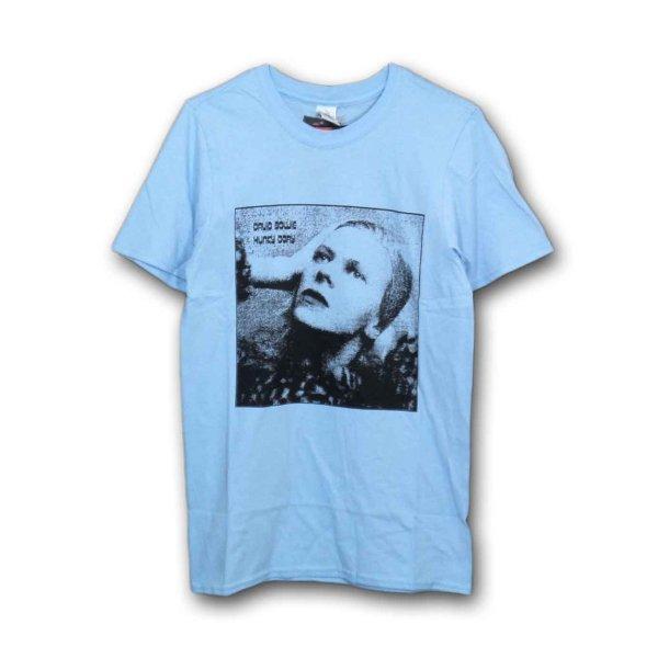 画像1: David Bowie Tシャツ デヴィッド・ボウイ Hunky Dory Light Blue (1)