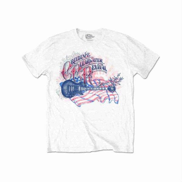 画像1: CCR Creedence Clearwater Revival バンドTシャツ クリーデンス・クリアウォーター・リバイバル Guitar (1)