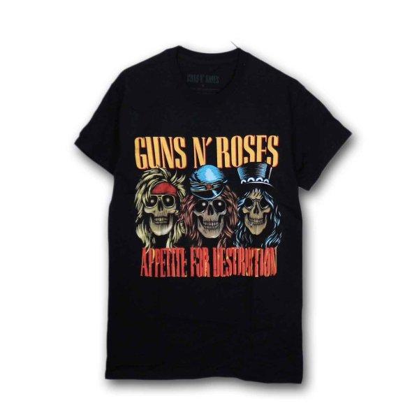 画像1: Guns N' Roses バンドTシャツ ガンズ・アンド・ローゼス AFD Skulls (1)