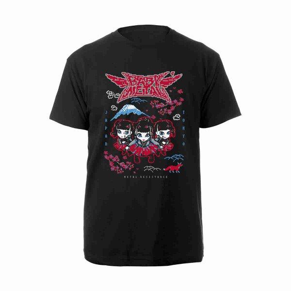 画像1: Babymetal バンドTシャツ ベビーメタル Pixel (1)
