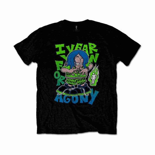 画像1: Billie Eilish Tシャツ ビリー・アイリッシュ Agony BLACK (1)