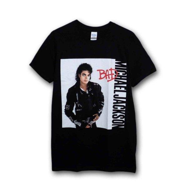 画像1: Michael Jackson Tシャツ マイケル・ジャクソン Bad BLACK (1)