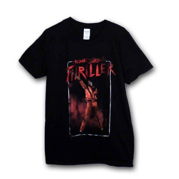 画像1: Michael Jackson Tシャツ マイケル・ジャクソン Thriller Red (1)