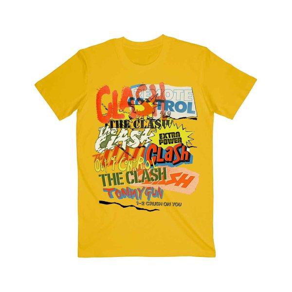 画像1: The Clash バンドTシャツ ザ・クラッシュ Singles Collage Text (1)
