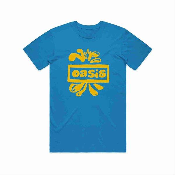 画像1: Oasis バンドTシャツ オアシス Drawn Logo BLUE (1)