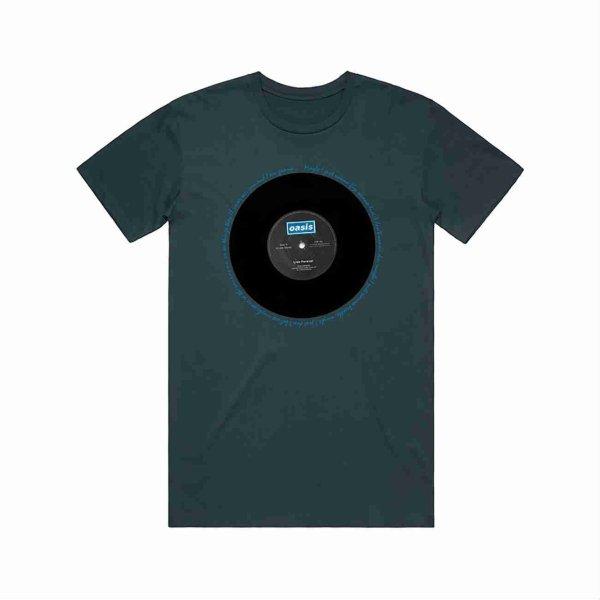 画像1: Oasis バンドTシャツ オアシス Live Forever Single BLUE (1)