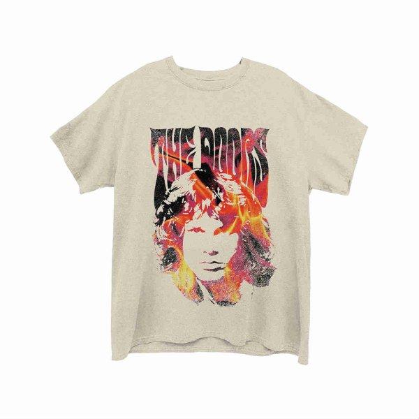 画像1: The Doors バンドTシャツ ザ・ドアーズ Jim Face Fire (1)
