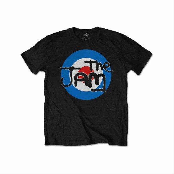 画像1: The Jam バンドTシャツ ザ・ジャム Spray Target Logo BLACK (1)