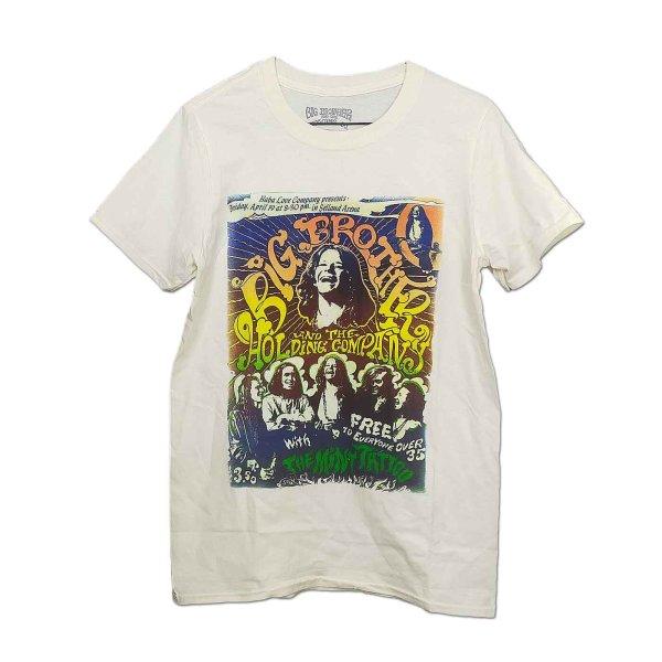 画像1: Big Brother & The Holding Company バンドTシャツ Janis Joplin ジャニス・ジョプリン Selland Arena NATURAL (1)
