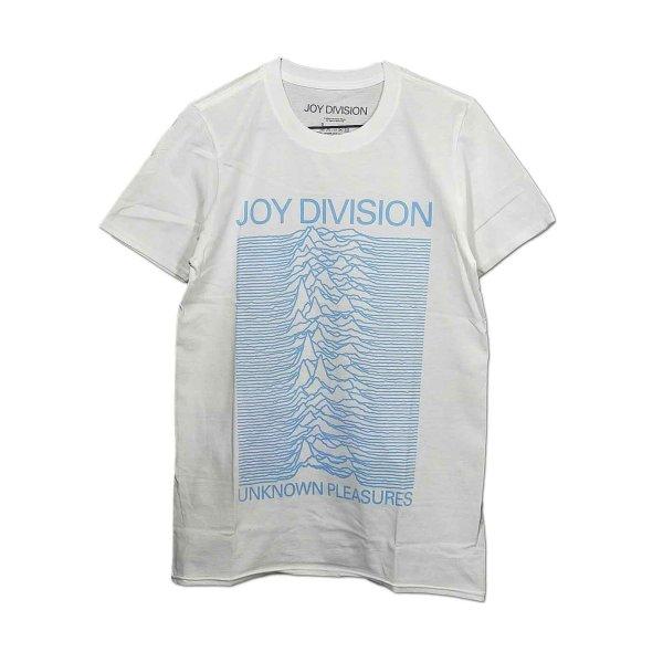 画像1: Joy Division バンドTシャツ ジョイ・ディヴィジョン Unknown Pleasures Blue On WHITE (1)