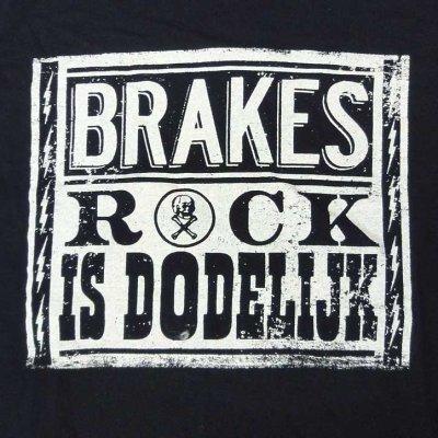 画像1: Brakes ブレイクス - Rock Is Dodelijk Tシャツ (S)<セール特価商品>