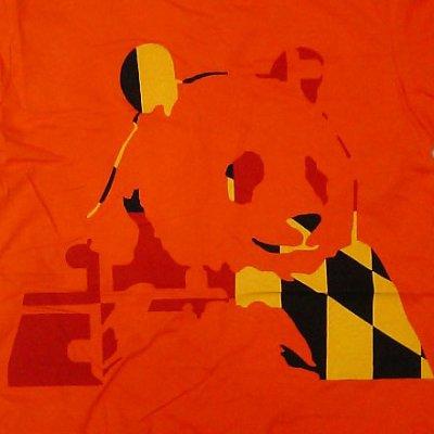 画像1: Panda Bear パンダ・ベアー Orange Panda Tシャツ (GM)<セール特価商品>