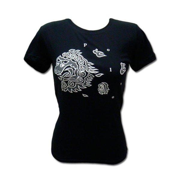 画像1: Polvo ポルヴォ - BLACK Lion Tシャツ (GM)<セール特価商品> (1)