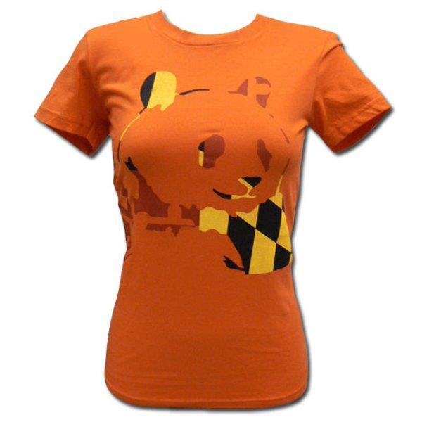 画像1: Panda Bear パンダ・ベアー Orange Panda Tシャツ (GM)<セール特価商品> (1)