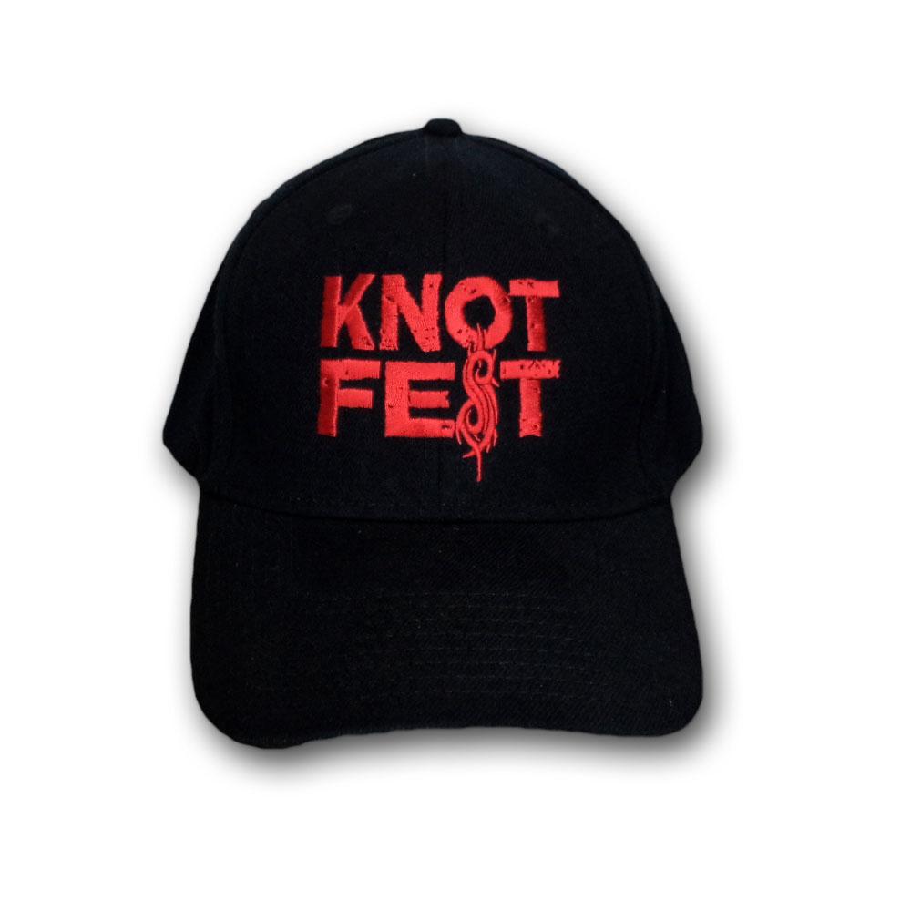 slipknot キャップ スリップノット knotfest red logo バンドtシャツの